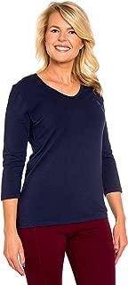 Best ladies navy t shirt Reviews
