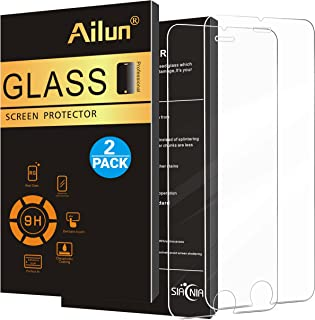 Ailun Screen Protector Compatible iPhone 8 7 6s 6 [2Pack],2.5D Edge Tempered Glass,Anti-Scratch,Case Friendly,Siania Retail Package
