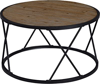 FirsTime & Co. Bristol Reversible Coffee Table, Aged Black, Brown, White (70180)