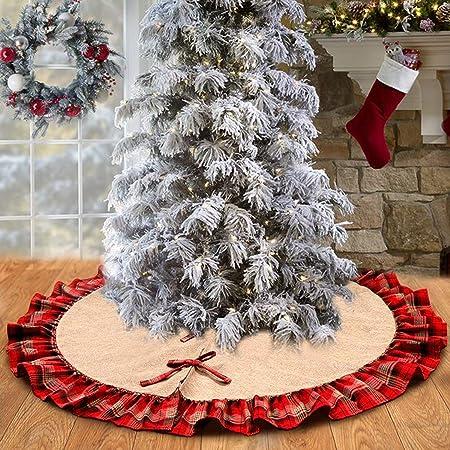 Milopon Christbaumst/änder Weihnachtsbaum Decke Weihnachtsbaumdecke Baumdecke Weihnachts Pl/üsch Dekorationen Weihnachtsbaum Abdeckung Runde Christbaumdecke f/ür Weihnachtenbaum Size 100cm