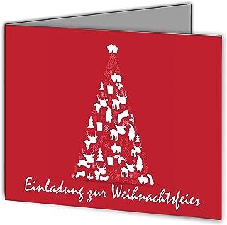 Einladungskarten zur Weihnachtsfeier Weihnachten Firma geschäftlich geschäftlich geschäftlich Business Firmen geschäftlich unternehmen auf Wunsch mit eigenem Foto Doppel-Klappkarte Din A--6 edel elegant Einladung - 80 Stück Motiv Tannebaum B01M4GNYKU  Adoptieren 2974a4