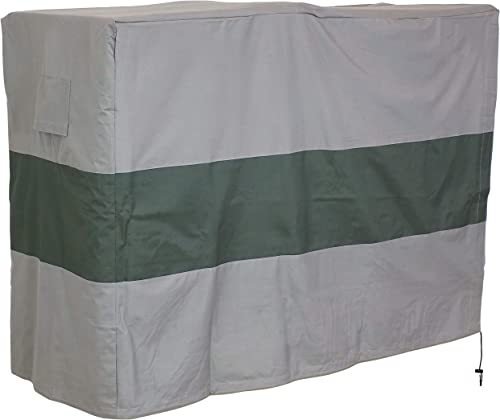 high quality Sunnydaze Log Rack Cover - Gray with Green Stripe - 300D Polyester high quality with PVC Backing - Heavy Duty Accessory for Patio, online sale Deck and Backyard - 6-Foot online