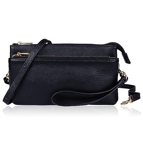 1531d72651c9 Befen Women Leather Crossbody Wristlet Clutch Wallet Purse