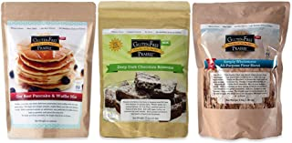 Gluten-Free Prairie Baker's Box Baking Gift Set, Certified Gluten Free Purity Protocol, Non-GMO, Set of 3 GF Oat Flour Bas...