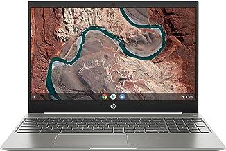 "2019 Flagship HP Chromebook 15.6"" IPS FHD 1080p Touchscreen Core i3-8130u 4GB 128GB eMMC Ceramic White (Renewed)"