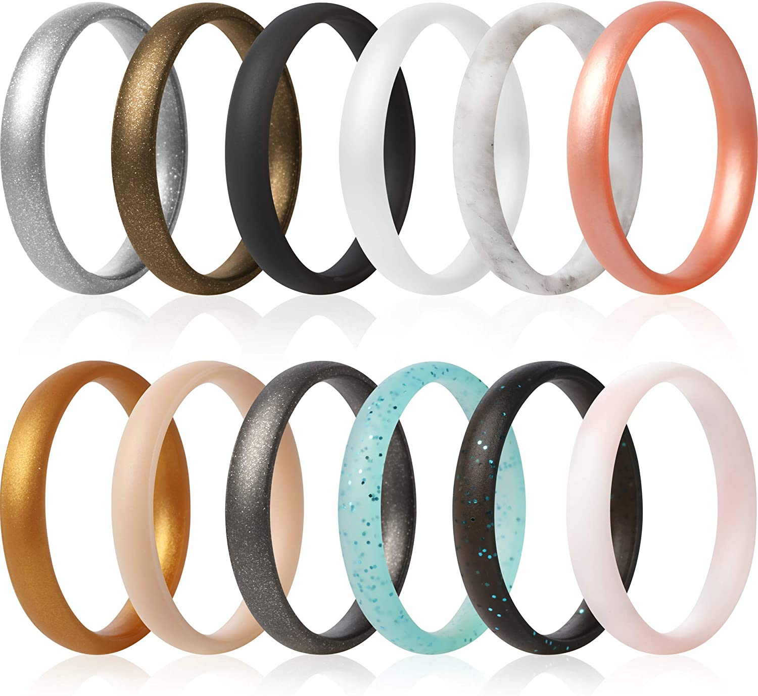 ThunderFit Super Thin Stackable Max 87% OFF Silicone Wedding Rings - 1 Bands Excellence