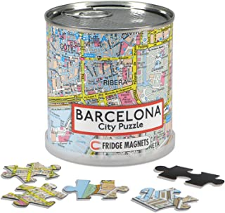 Barcelona - City Puzzle Magnets in premium tin can
