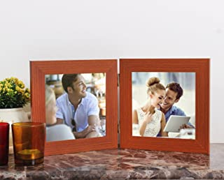 Art Street MDF 2 Co Joint Table Photo Frames (Glass, 5X5, Brown)