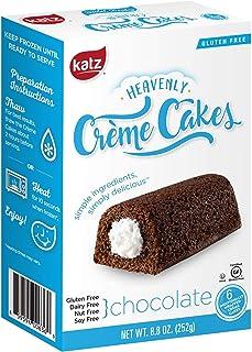 Katz Gluten Free Chocolate Crème Cakes   Dairy Free, Nut Free, Soy Free, Gluten Free   Kosher (1 Pack of 6 Crème Cakes, 8.8 Ounce)