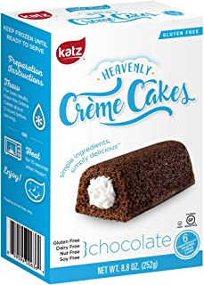 Katz Gluten Free Chocolate Crème Cakes | Dairy, Nut, Soy and Gluten Free | Kosher (3 Packs of 6 Crème Cakes, 8.8 Ounce Each)