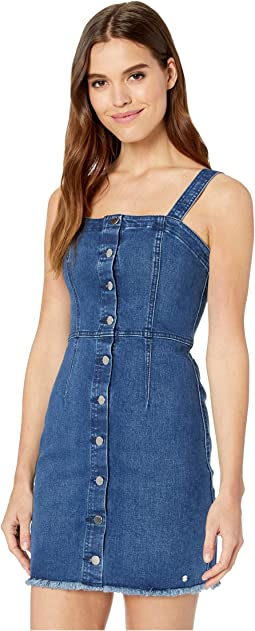 a6109dca1a Bb dakota lauren button front denim midi dress