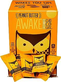 Awake Caffeinated Chocolate Energy Bites, Peanut Butter, 50 Count
