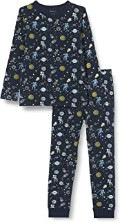 NAME IT Jungen Nkmnightset Dark Sapphire Space Noos Pyjamaset (2er Pack)