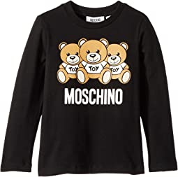 Long Sleeve Teddy Bear Logo Graphic T-Shirt (Little Kids/Big Kids)