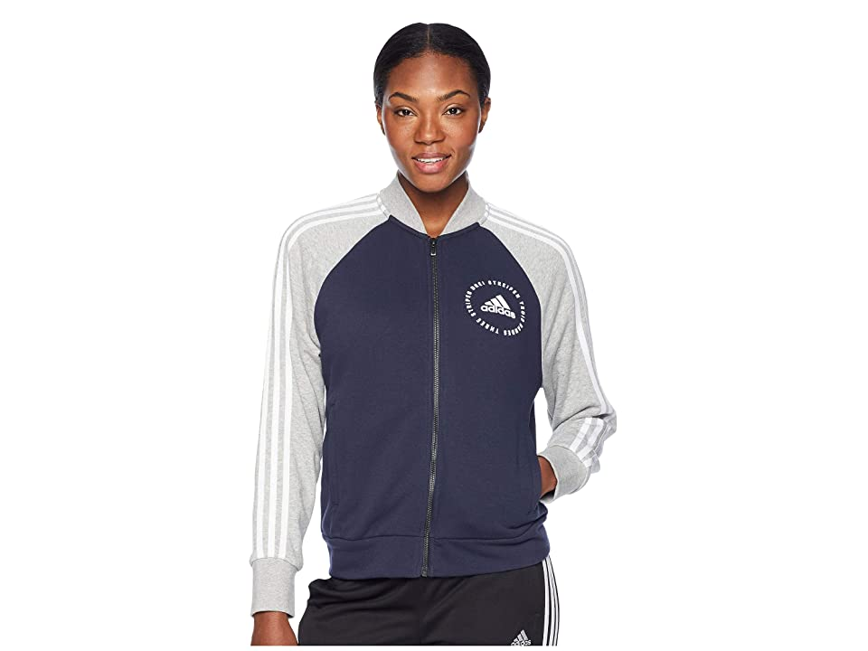 adidas Sport ID Bomber (Legend Ink/Medium Grey Heather/White) Women