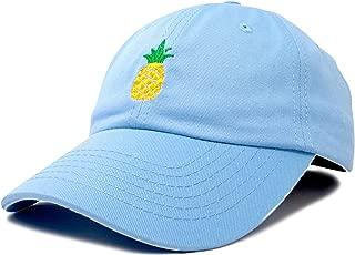 DALIX Pineapple Dad Hat Cotton Twill Baseball Cap Premium Stitched