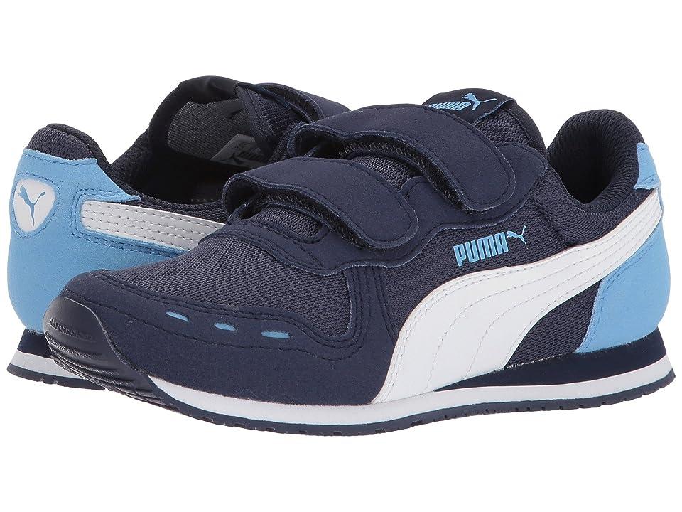 Puma Kids Cabana Racer Mesh V (Little Kid) (Peacoat/PUMA White/Little Boy Blue) Boys Shoes