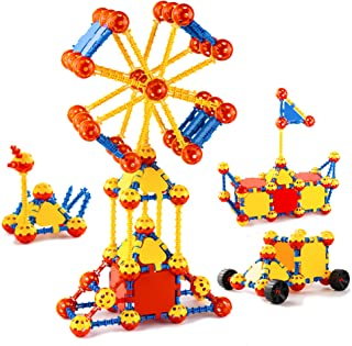 cossy STEM Learning Toy Engineering Construction Building Blocks 198 Pieces Kids Educational Toy for Boys and Girls Ages 3...