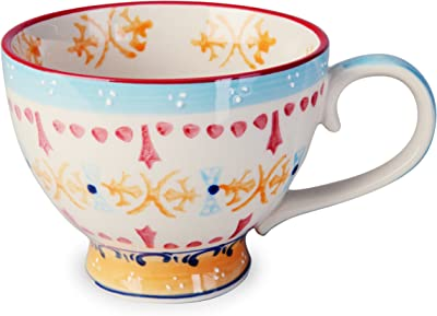 Signature Housewares Global Three Collection Mugs, 14-Ounce, Set of 4