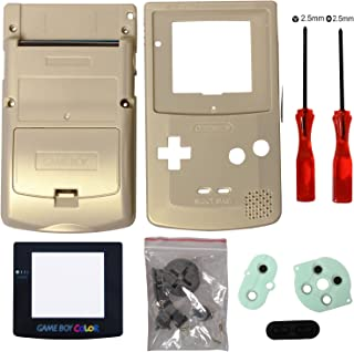 Timorn Full Housing Shell Case Cover Replacement for GBC Gameboy Color (Gold)