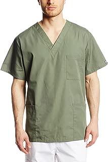 Cherokee Originals Unisex V-Neck Scrubs Shirt, Olive, Small