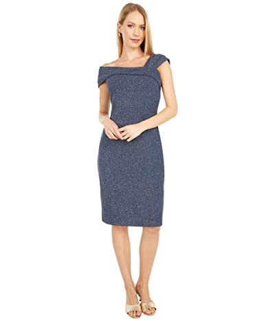 Vince Camuto Glitter Knit Ruched Dress (Steel) Women