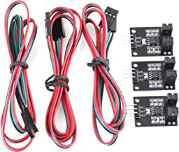Biaobiao 3 Pack Optical Limit Switches Endstop with Comparison Circuit LM393 70cm Line IR Counter Module