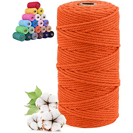 Rot + Gr/ün, 100M-2mm 200M-3mm Sunshine smile naturliches Baumwolle Garn,Baumwollgarn Basteln,baumwollkordel,Kordel DIY Handwerk,makramee garn