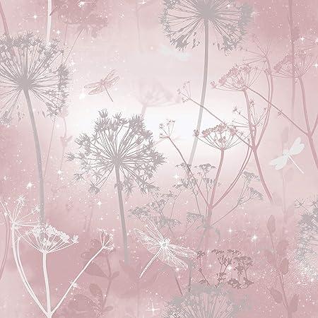 Arthouse 692305 Damselfly Blush Wallpaper, Pink, One Size