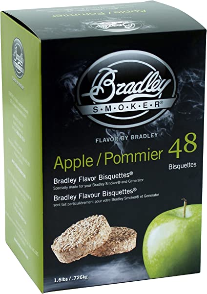Bradley Smoker BTAP48 Apple Pommier Bisquettes 48 Pack