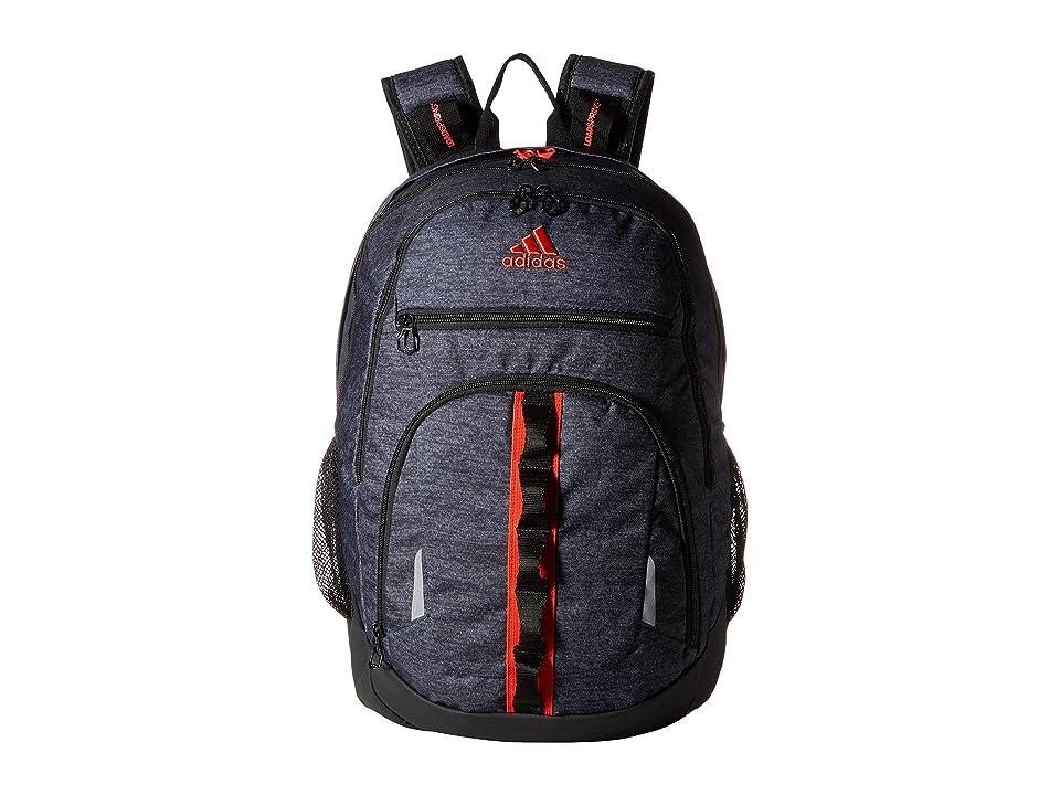 adidas Prime IV Backpack (Black Jersey/Black/Hi Res Red) Backpack Bags