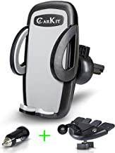 CarKit 2in1 Universal Cell Phone Holder For Car CD Slot/Air Vent & Bonus USB Car Charger, CD Phone Mount Holder For iPhone 11 Pro Max Xs Xr 8+ 7 Samsung Galaxy S10+ S10 S9+ S8 S7 and Other Smartphone