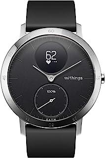 Withings Steel HR – Hybrid smartklocka – aktivitetsmätare med ansluten GPS, pulsmätare, sömnskärm, smarta meddelanden, vat...
