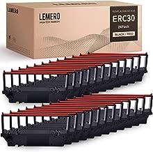 LEMERO ERC30 ERC30/34 38 Black/Red Compatible Printer Ribbon Cartridge for DPN2700, TMU370, TMU375, 270, 300D (Black Red, 24 Pack)