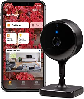 Eve CAM – Cámara Segura para Interior, 100% privacidad, Apple HomeKit Secure Video, notificaciones en iPhone/iPad/Apple Wa...