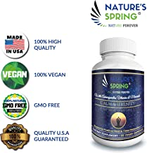 Dietary Supplement Relaxed Mood Complex Calm & Serenity Natural Anxiety Relief Supplement Supports Relaxed Mood, Anti-Anxiety, Stress Relief - Rhodiola, Ashwagandha.Vitamins & Minerals