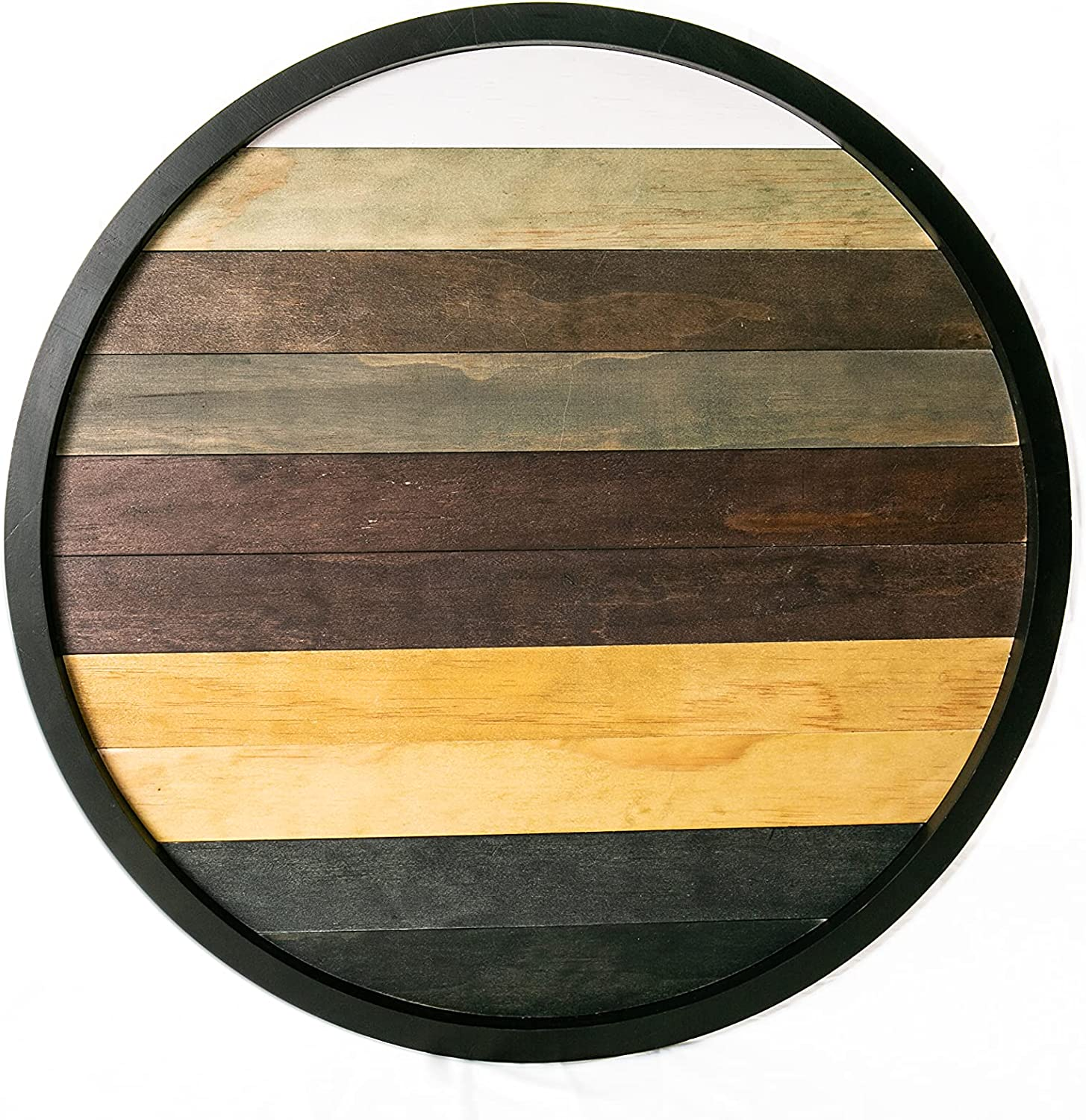 HOME BREEZES Extra Large Wooden Lazy T Susan- Fashion Ottoman Round specialty shop Wood