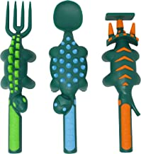 Constructive Eating Dinosaur Utensil Set for Toddlers, Infants, Babies and Kids - Flatware Toys are Made with FDA Approved Materials for Safe and Fun Eating