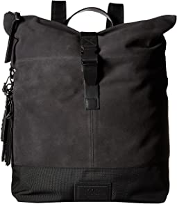 John Varvatos Star U.S.A. - Suede & Ballistic Nylon Backpack
