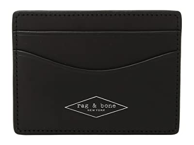 rag & bone Hampshire Card Case (Black) Credit card Wallet