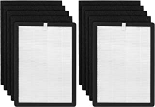 isinlive 2 Pack H13 Premium HEPA Replacement Filters & 8 Activated Carbon Pre-Filters Compatible with VEVA ProHEPA 9000 Ai...