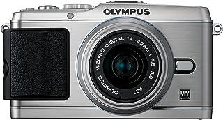 Olympus PEN E P3 Systemkamera (12 Megapixel, 7,6 cm (3 Zoll) Display, Bildstabilisator, Full HD Video) Kit silber inkl. 14 42mm Objektiv silber