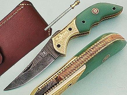 Handgefertigt 18 cm Awesome Klapp Tasche Messer Made mit echten Damaskus Stahl mit G10 Material Griff und Gravur Kropf  (bdm-78) (Legal zu tragen) B01MFFHQKB | Günstige Bestellung