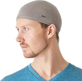 ee571db4db4c6 CHARM Mens 100% Silk Skull Cap - Kufi Beanie Hat Summer Snug Tight Helmet  Wear