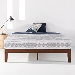 Mellow Naturalista Classic - 12 Inch Solid Wood Platform Bed with Wooden Slats, No Box Spring Needed, Easy Assembly, Quee...