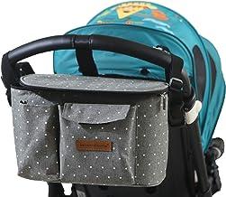Buggy Kinderwagen Organizer Kinderwagentasche Wickeltasche Wickelrucksäcke Baby Universale Multifunktionale Aufbewahrungstasche 31X16X18CMGrauer Stern