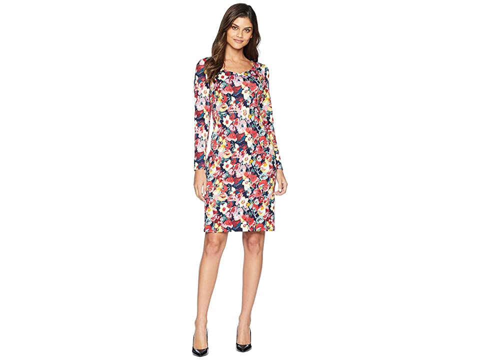 Betsey Johnson Floral Printed Scuba Dress (Floral/Multi) Women
