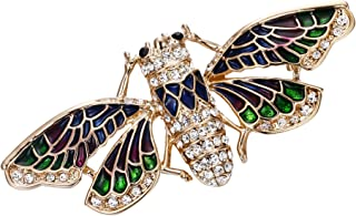 Clearine Women's Lovely Cute Crystal Cicada Insect Enamel Brooch Pin
