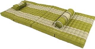 Bamboo Dreams, Thai Massage Set: Foldable Mat + Massage Pillow and Bolster, Boogreen (All Filled with 100% Kapok)