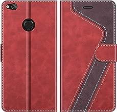 MOBESV Custodia Huawei P8 Lite 2017, Cover a Libro Huawei P8 Lite 2017, Custodia in Pelle Huawei P8 Lite 2017 Magnetica Cover per Huawei P8 Lite 2017, Elegante Rosso